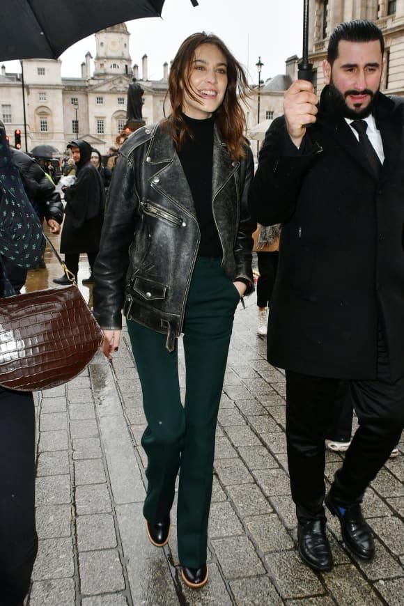 Alexa Chung attends Victoria Beckham London Fashion Week 2020 catwalk show.
