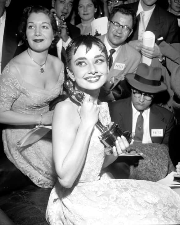 Audrey Hepburn won the Oscar for her role in 'Roman Holiday' in 1954 - she was just 24.