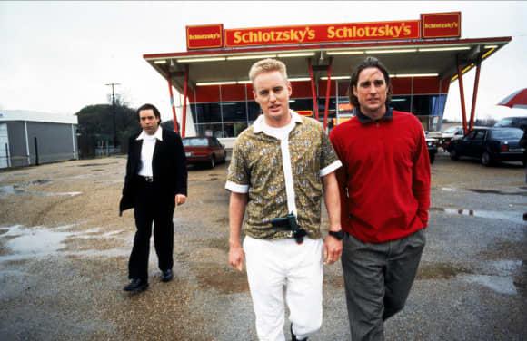 Robert Musgrave, Owen Wilson y Luke Wilson en Bottle Rocket