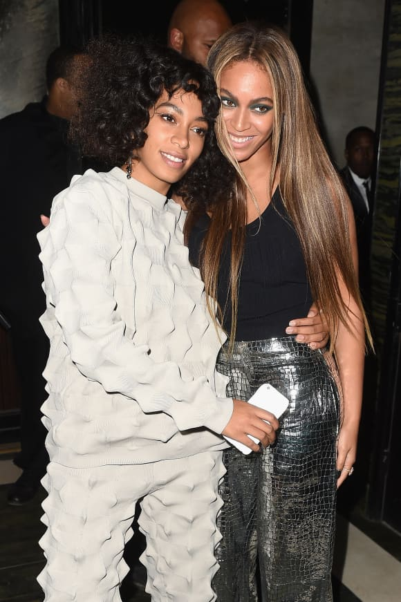 Beyoncé and Solange Knowles attending the Balmain And Olivier Rousteing Celebrate After The Met Gala 2016