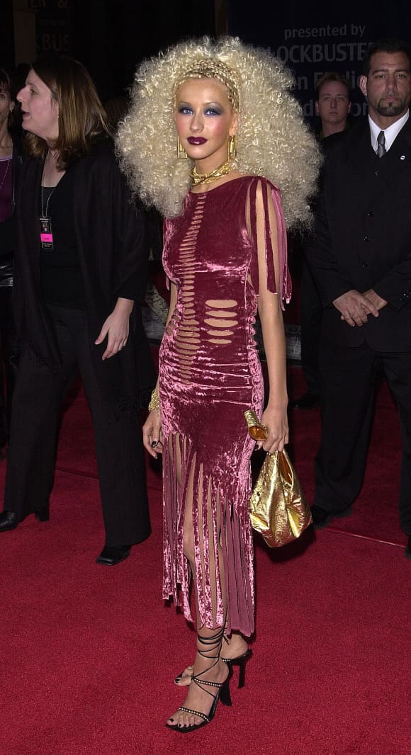 Singer Christina Aguilera attends the Seventh Annual Blockbuster Awards April 10, 2001