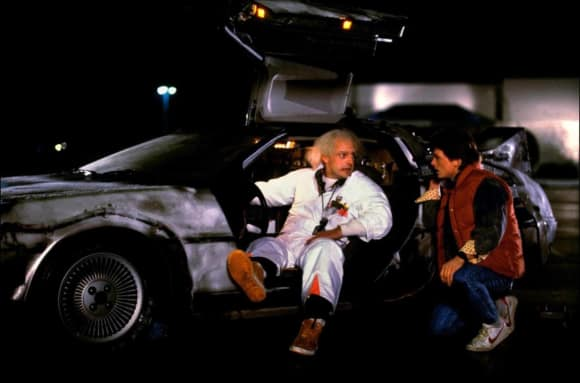 """Back To The Future"" stars Michael J. Fox and Christopher Lloyd"