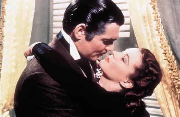 Clark Gable Vivien Leigh se fue con el viento 1939