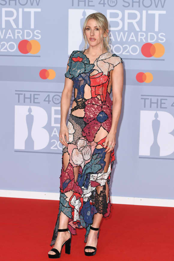 Ellie Goulding attends The BRIT Awards 2020.