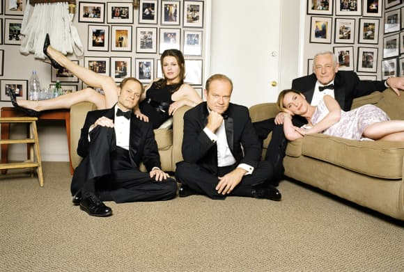 The cast from 'Frasier' in 2001