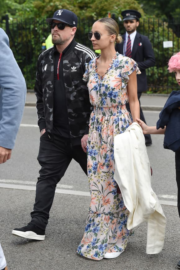 Joel Madden and Nicole Richie attend the Wimbledon 2019 Tennis Championships in London, England.