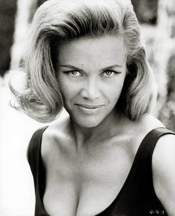 "Honor Blackman starred as ""Pussy Galore"" in 'Goldfinger'."