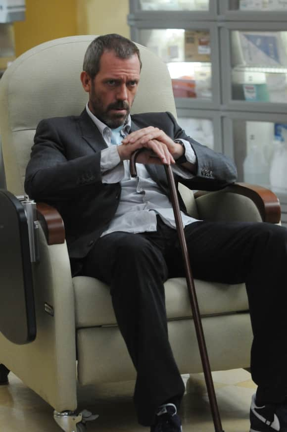 """Hugh Laurie as """"Dr. Gregory House"""" on House."""