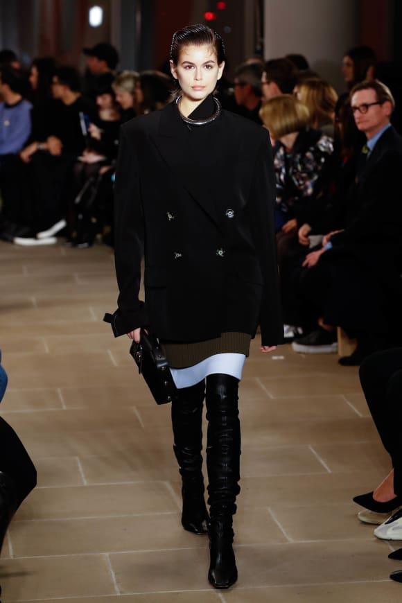 Kaia Gerber walks the runway for the Proenza Schouler fashion show during New York Fashion Week 2020.