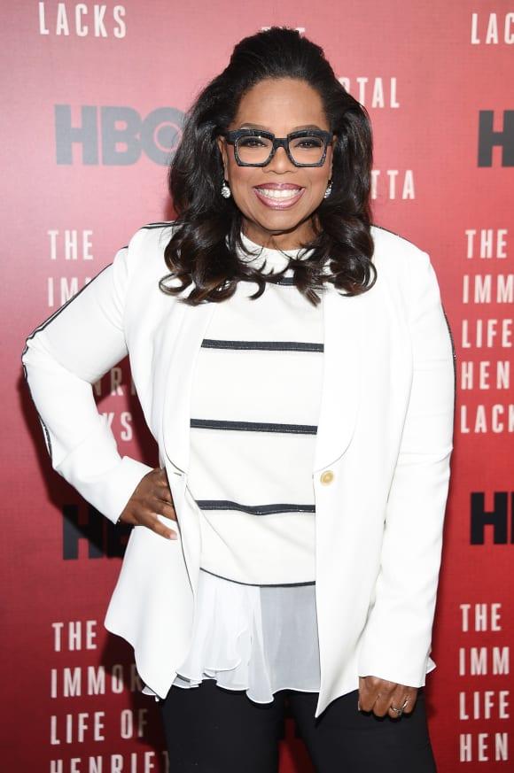 Oprah Winfrey asiste al estreno de 'La vida inmortal de Henrietta Lacks' en 2017.