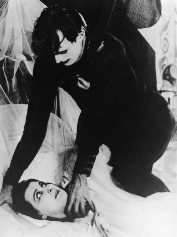 Conrad Veidt in The Cabinet of Dr. Caligari (1920) direcot Robert Wiene German horror movie