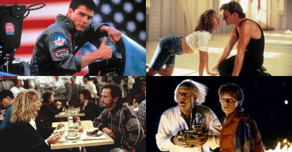 'Top Gun', 'Dirty Dancing', 'When Harry met Sally...', 'Back to the Future'