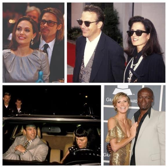 Angelina Jolie, Brad Pitt, Kevin Kostner, Mel Gibson, Heidi Klum