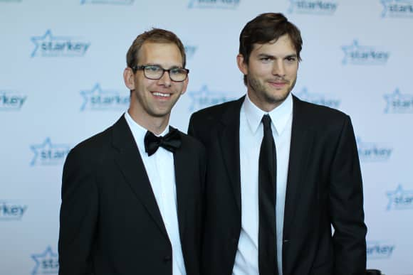 Ashton Kutcher and Michael Kutcher.