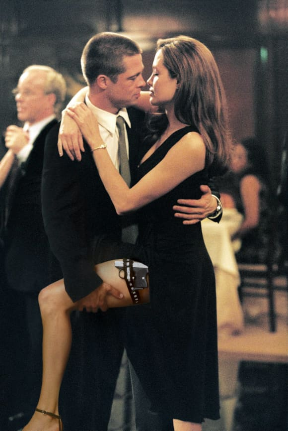 Brad Pitt and Angelina Jolie in 'Mr. and Mrs. Smith'.