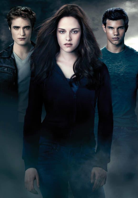 Robert Pattinson, Kristen Stewart y Taylor Lautner en una imagen promocional de la película 'Crepúsculo la saga: Eclipse'