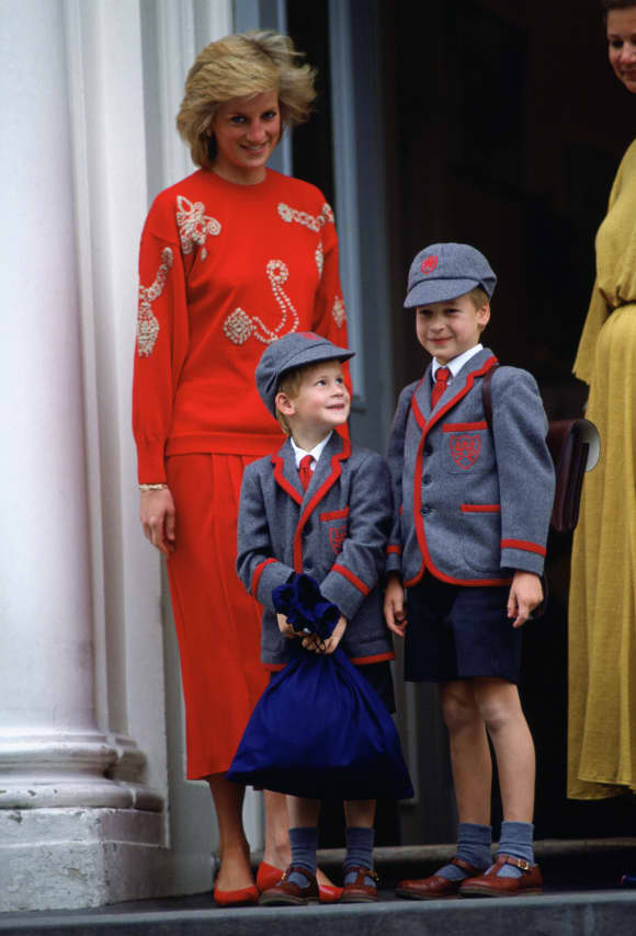 Princesa Diana, Príncipe Harry y Príncipe William