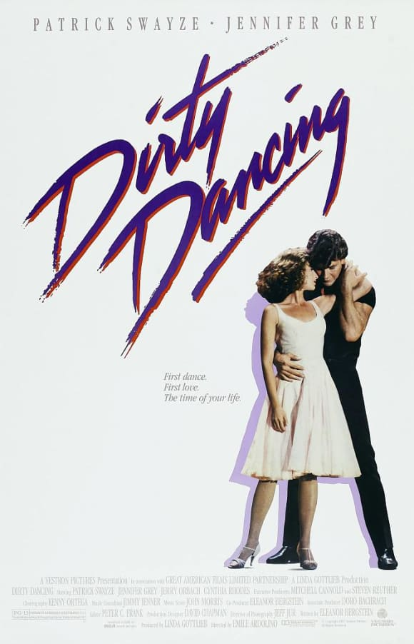 Dirty Dancing movie poster patrick swayze jennifer grey 1987