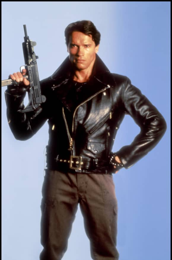 Arnold Schwarzenegger en una imagen promocional en la película 'The Terminator'