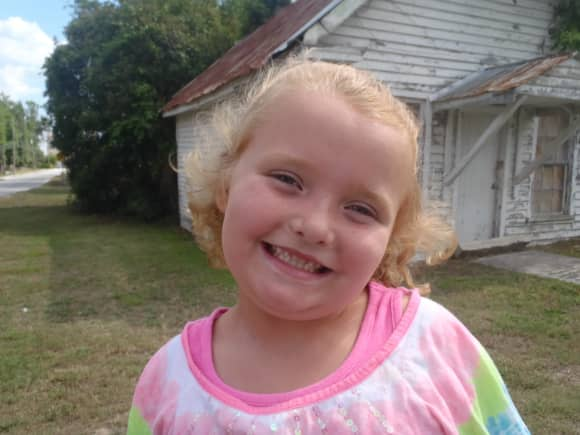'Here Comes Honey Boo Boo': Alana Thompson en 2012.