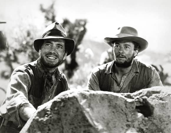Humphrey Bogart and Tim Holt in 'The Treasure of the Sierra Madre' 1948.