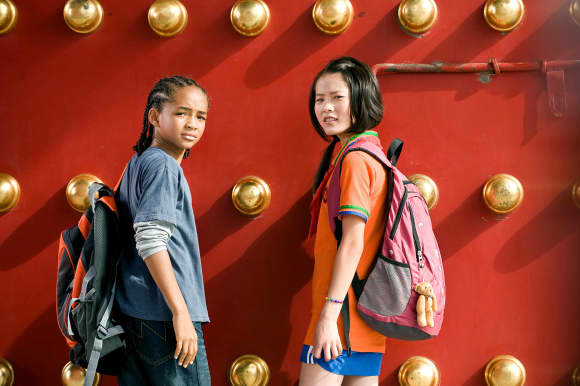 Jaden Smith y Wenwen Han en 'Karate Kid'
