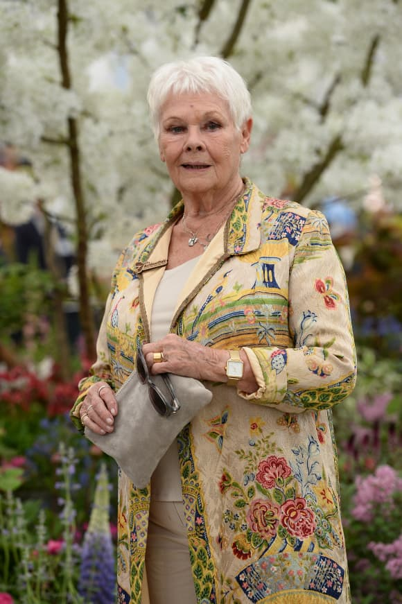 Judi Dench at the RHS Chelsea Flower Show 2019 in London.