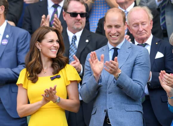 Duchess Catherine and Prince William at Wimbledon 2018
