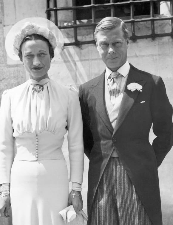 Edward VIII, former King of England, now Duke of Windsor, and his bride, Bessie Wallis Warfield Simpson at the Chateau de Cande, June 3, 1937.