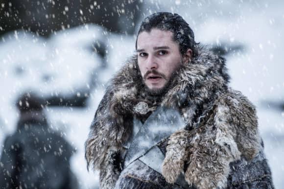 "Kit Harington como ""Jon Snow"" en la temporada 7 de Game of Thrones de HBO."