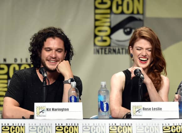 Kit Harington y Rose Leslie en la Comic-Con de 2013