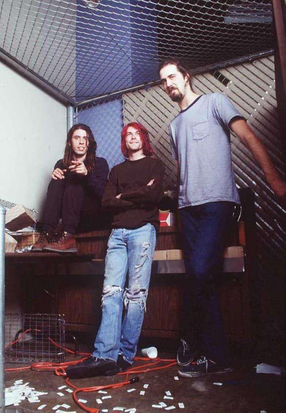 Dave Grohl, Kurt Cobain and Krist Novoselic