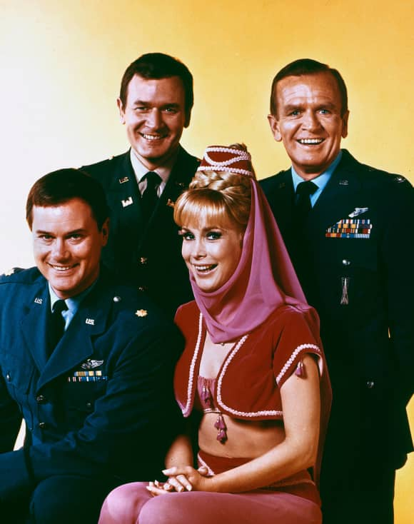 The 'I Dream of Jeannie Cast': Larry Hagman, Bill Daily, Barbara Eden and Hayden Rorke