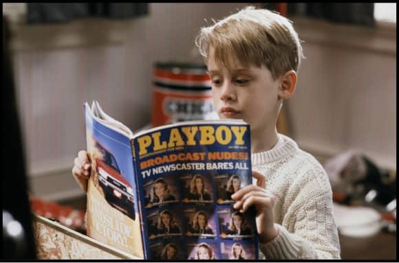 "Macaulay Culkin as ""Kevin McAllister"" in Home Alone."