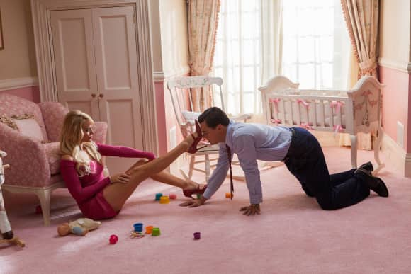 """Margot Robbie and Leonardo DiCaprio in """"The Wolf of Wall Street"""""""