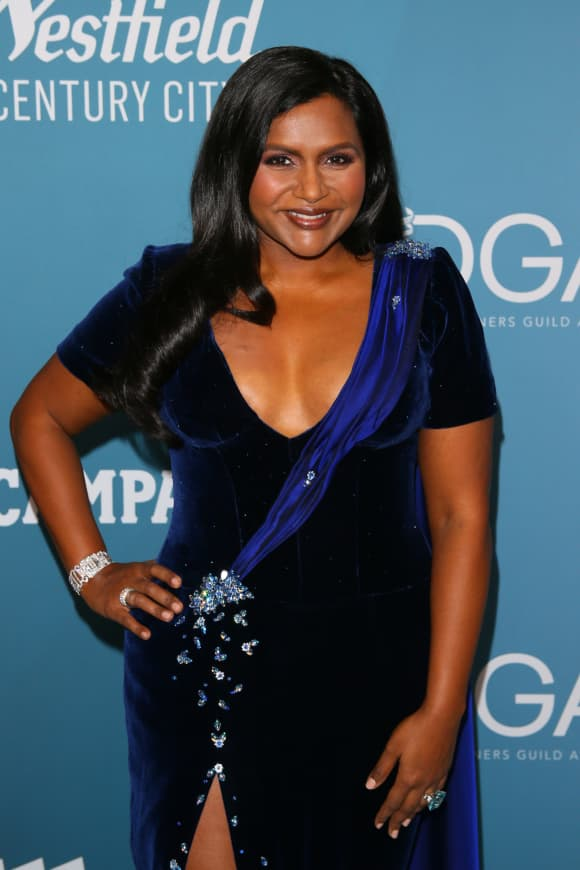 Mindy Kaling attends the 22nd Costume Designers Guild Awards in Beverly Hills on January 28, 2020