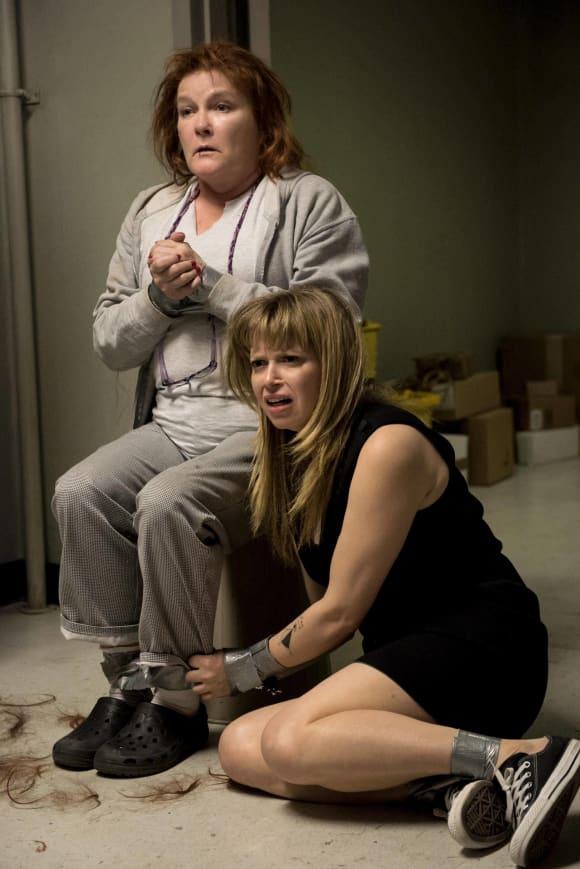 Kate Mulgrew and Natasha Lyonne in 'Orange Is The New Black'.