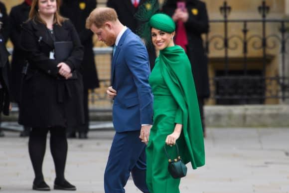 El príncipe Harry y la duquesa Meghan en el Commonwealth Day Service en Londres el lunes.