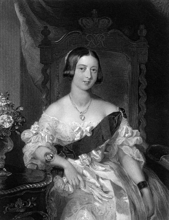 Retrato de la Reina Victoria de joven