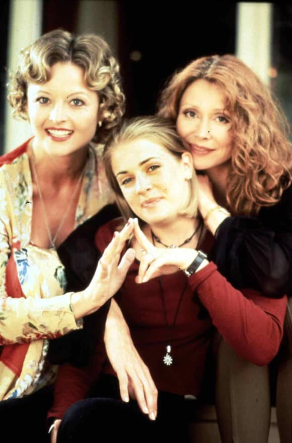 The 'Sabrina the Teenage With' cast: Caroline Rhea, Melissa Joan Hart Beth Broderick.
