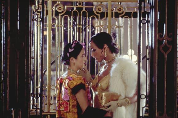 Salma Hayek y Valeria Golino en 'Frida'