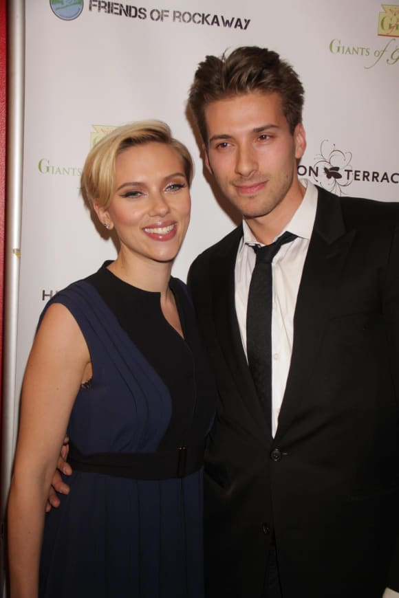 Scarlett Johansson and Hunter Johansson.