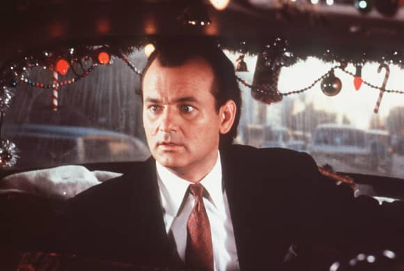 "BIll Murray como ""Frank Cross"" en Scrooged"