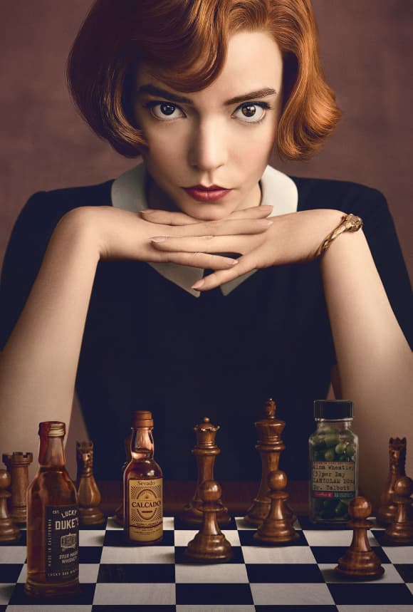 Póster de la serie 'Gambito de Dama'